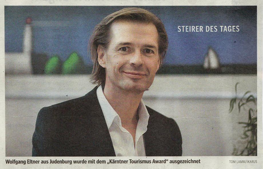 Kärntner Tourismus Award, Kleine Zeitung, März 2009