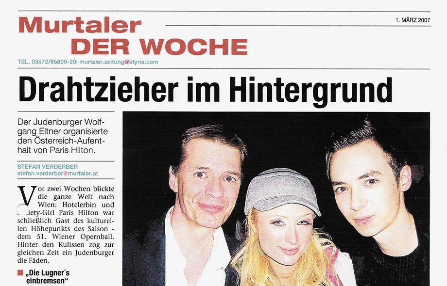 Österreich-Aufenthalt von Paris Hilton, Murtaler Zeitung, März 2007